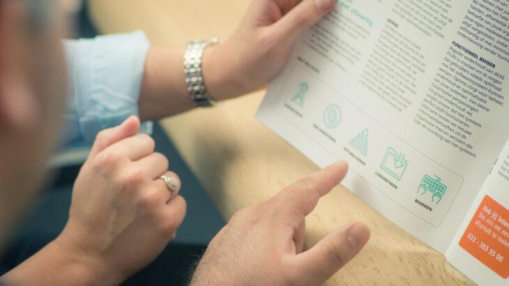 Handen, brochure, Optimo AFAS ERP inrichting
