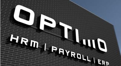Logo Optimo op nieuw pand