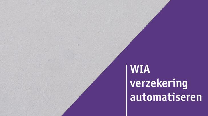 WIA-verzekering automatiseren